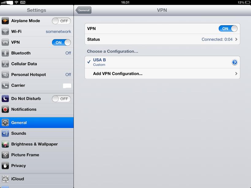 IOS IPhone IPad VPN setup