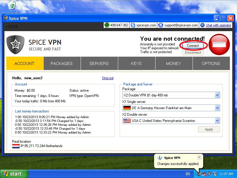 OpenVPN client setup