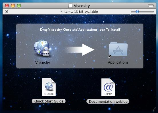 Installing Viscosity Step 2