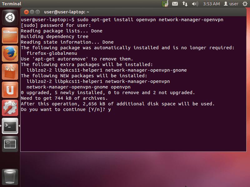 OpenVPN setup